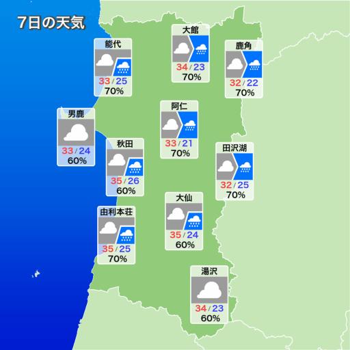 秋田の天気